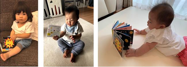 赤ちゃんが笑う!泣き止む!『Sassyのえほん』シリーズに 手のひらサイズのお出かけ用が新発売!